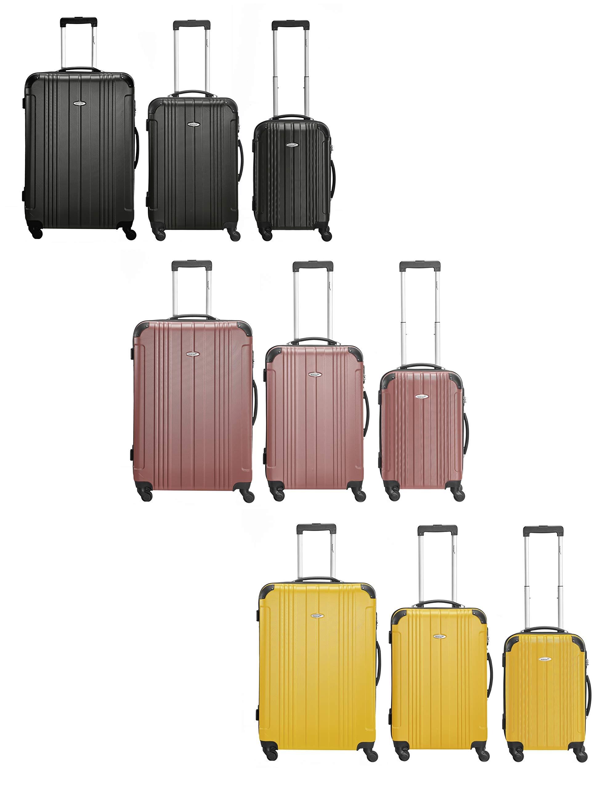 Packenger-Kofferset-Goliath-3-teilig-M-L-XL-4-Rollen-Koffer-mit-Zahlenschloss-Hartschalenkoffer-ABS-Robuster-Trolley-Reisekoffer