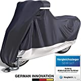 Velmia motorzeil outdoor & indoor [maat XL] scooterzeil waterdicht, wintervast, krasvrij en hittebestendig – ALS BESTE UIT DE