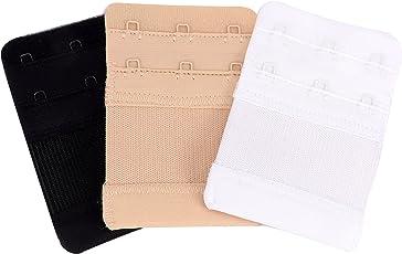 3 Pcs. Bra extender bra extensions bra straps for ladies girls women 3 hooks, 3 colors