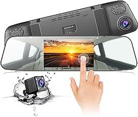Dashcam JEEMAK Rückspiegel Monitor Autokamera 4.3 Zoll IPS Touchsreen Spiegel DashCam mit 170 ° Weitwinkel, WDR, Bewegungserkennung, Parkmonitor, Loop-Aufnahme und G-Sensor
