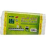 Eco Care White Garbage Bag Roll, 30s, 5 Gallon 46x52x5