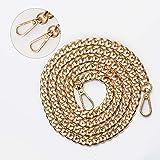 KIMI-HOSI Taschenkette 120cm Handtaschenketten Flache Kette Tasche Schultergurt Ersatz Kette Gold Metall Schulterriemen für D