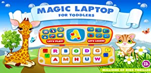 Preschool All-In-One Learning – Magic Laptop: School Adventure A to Z: Basic Skills Games for Kids - Learn to Read and Count with Animals (160 Interactive Flash Cards – Educational Toy for Baby, Toddler & Kindergarten by Abby Monkey® by 22learn, LLC