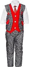 Nikky Fashion Boys Waistcoat, Shirt and Trouser Set_579