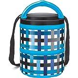 Milton Microwow Pro 2 Plastic Tiffin Box Set, 240 ml, Set of 2, Blue
