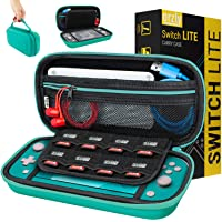 Orzly Carry Case for Nintendo Switch Lite with Game Cartridge Holders and Large Dual Pocket for accessories - Blue…