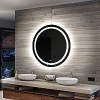 Artforma LED Miroir Rond De Salle De Bain | 50 cm | Vérifier Toutes Les Options - Personnaliser | sur Mesure | Moderne…