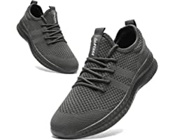 HIIGYL Mens Trainers Running Shoes Tennis Shoes Lightweight Walking Athletic Sports Sneakers Non Slip Gym Shoes