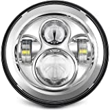 Sunpie 7 Zoll Chrom Harley Daymaker Led Scheinwerfer 2x4 1 2 Nebelscheinwerfer Passing Lampen Für Harley Davidson Motorrad Auto