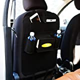 Autofy Universal 6 Pocket Seat Back Organiser for All Cars (Black)