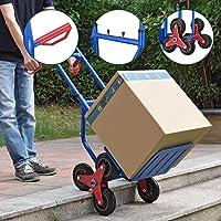 Juskys Treppensackkarre klappbar | 200 kg belastbar | Hartgummireifen | Kunststoff Griffe | Stahl Rahmen | Treppenkarre…