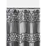 Popular Bath 231014 Shower Curtain, Sinatra Collection Silver