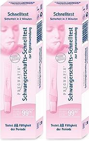 Pregnafix Schwangerschafts-Schnelltest, mit sicherem Ergebnis in nur zwei Minuten, 2er Pack (2 x 1 Stück)