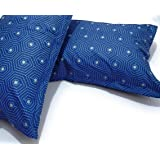 Star Dynamic 100% Cotton Pillow Cover Set of 2, Color-Blue