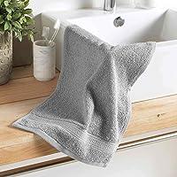 DOUCEUR D'INTERIEUR serviette invite 30 x 50 cm eponge unie colors gris