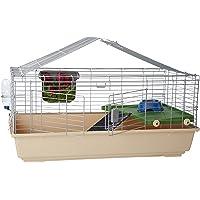 AmazonBasics - Small cage habitat for rabbit, hamsters & small animals - 42 x 24 x 20 Inches, Large