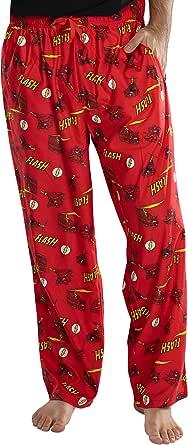 INTIMO DC Comics Men's Classic The Flash Comic Allover Print Loungewear Pajama Pants