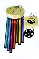 Skynet Wind Chimes for Home Positive Energy 7 Pipe Multi Color Wind Chimes with Good Sound-Feng Shui Wind Chimes for Balcony