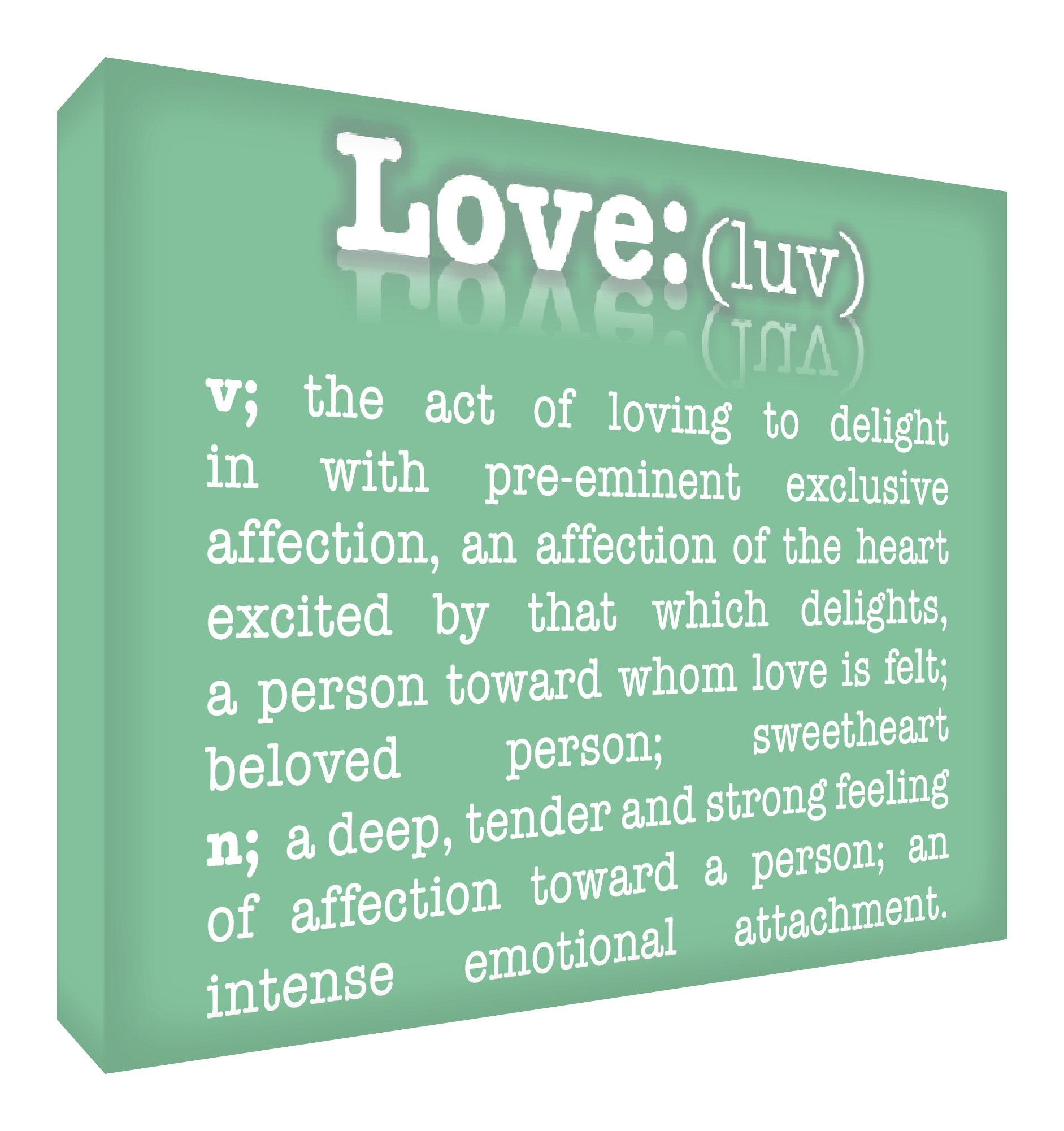 Feel Good Art-lucido, con Block Decor Momento Token (10,5 x 14,8 x 2 cm, colore: verde chiaro, Smal