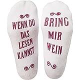 Luxuriöse Lustige Socken Aus Gekämmter Baumwolle Mit Der Aufschrift Bring Mir Wein Gastgeber, Einweihungsfeiern, Geburtstage,