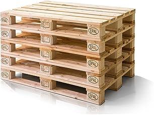 Moebel Eins Europalette 5er Set Flachpalette Palette Neuware Holzpalette  120x80 Cm Natur