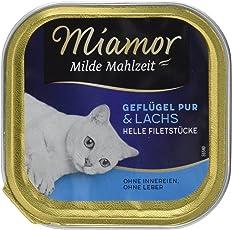 Miamor Milde Mahlzeit Geflügel & Lachs, 16er Pack (16 x 100 g)