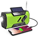 Wind Up Radio, Emergency Radio Solar Crank AM/FM Weather Radio with Portable 2000mAh Power Bank, Bright Flashlight and Readin