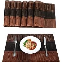 MOSIIKON Lot de 6 Sets de Tables PVC Lavables Antidérapant Résistant à l'usure à la Chaleur, Facile à Nettoyer et…