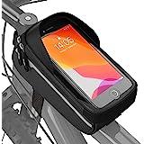 VELMIA Fahrrad Rahmentasche Wasserdicht - Fahrrad Handyhalterung ideal zur Navigation - Fahrradtasche Rahmen, Fahrrad Handyta