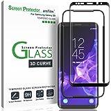 واقي شاشة Galaxy S9، شاشة كاملة من الزجاج المقوى لهاتف Samsung Galaxy S9 من amFilm 3D مع قاعدة تثبيت سهلة الاستخدام (ليس S9 P