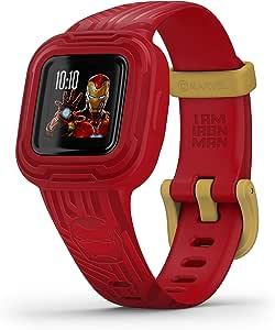 Garmin Vívofit Jr 3 Marvel Iron Man Wasserdichter Digitaler Aktivitätstracker Für Kinder Ab 4 Jahren Schrittzähler Großes 1 4 Cm Display Notfallkontakt Bis Zu 1 Jahr Batterielaufzeit Quiz Navigation