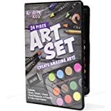 Kreative Kids 24 Piece Art Set In A Case Ideal for Home or School