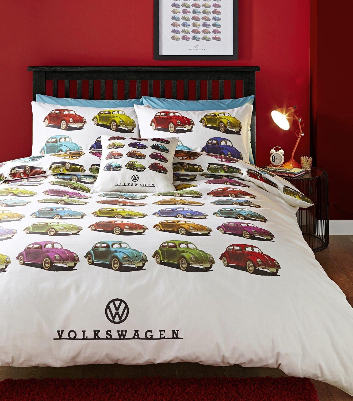 Volkswagen Beetle Car King Quilt Duvet Cover and 2 Pillowcase ... : car quilt cover - Adamdwight.com