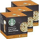 Starbucks Nescafé Dolce Gusto Caramel Macchiato Lot de 3 boîtes de 12 Capsules de café à Latte Macchiato Caramel