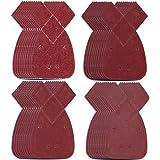 Natuce 40 STKS Gemengde Grit Mouse Detail Schuurvellen Schuurpapier met Extra 2 Tips voor Vervanging, Haak en Loop Verschille