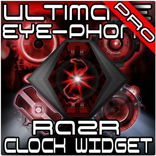 Ultimate RAZR Clock Widget + Wallpaper Pack -