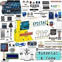 EPICTAC® RC522 RFID Starter Kit for Arduino UNO, Mega2560, Nano with ADXL345, Joystick, Ultrasonic Sensor including 30…