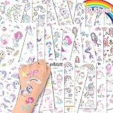 ACWOO Eenhoorn Tijdelijke Tattoos, 30 Vellen Eenhoorn Zeemeermin Tijdelijke Tattoo Stickers voor Kinderen, 350+ Patronen Wate