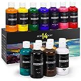 Magicfly Set de Pinturas Acrílicas, 14 Colores 280 ml, Pintura Acrílica Permanente para Manualidades, Lienzos, Madera, Piedra