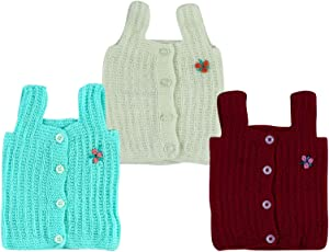 Montu Bunty Wear Baby Boy's Woollen Essential Vest (Ovesttinimini1) - Pack Of 3