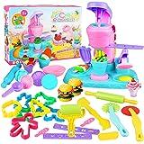 Yojoloin Utensili Plastilina per Bambini,30 Pezzi Accessori e Strumenti per L'Impasto Taglierine per Bambini, Colorati Macchi