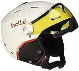 Bollé Erwachsene Backline Visor Premium Skihelme Soft White/Red 56-58 cm