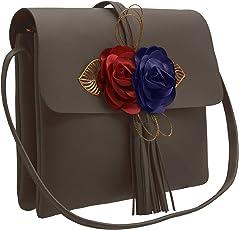 TAP FASHION Fancy Stylish Party Wear Women's Sling Bag With 3d Rose Flower