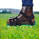 EEIEER Aireador de Cesped Zapatos, Zapatos para Airear el Césped Escarificador Cesped Zapatos Jardín de Césped Spikes Sandali