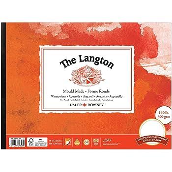 "Daler Rowney Langton Watercolour Spiral Pad 200lb // 425gsm 12/"" x 9/"" NOT"