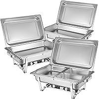 Zelsius plat-réchaud Set professionnel Montpellier, 3 x acier inoxydable de maintien au chaud, 21 pièces Chafing Dish GN…
