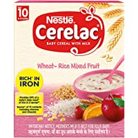 Nestlé CERELAC Fortified Baby Cereal with Milk, Wheat-Rice Mixed Fruit – From 10 Months, 300g BIB Pack