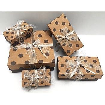 Emartbuy Starrer Luxus Quadratische Pr/äsentations-Geschenkbox Creme Box mit Gestreiftem Burgunder Deckel 15 cm x 15 cm x 6,5 cm Schokoladenbraunes Interieur Und Satin Dekoratives Band