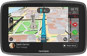 TomTom Go 6200 Navigationsgerät (15,2 cm (6 Zoll) Updates über Wi-Fi, Smartphone Benachrichtigungen, Freisprechen, Lebenslang Karten-Updates Welt, Traffic über Integrierte Sim-Karte)