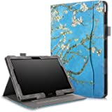 ProElite Smart handstrap Case Cover for Lenovo Tab M10 /M10 HD/M10 FHD REL/Tab P10 10.1 inch (Flowers) [Do not fit M10 Plus]
